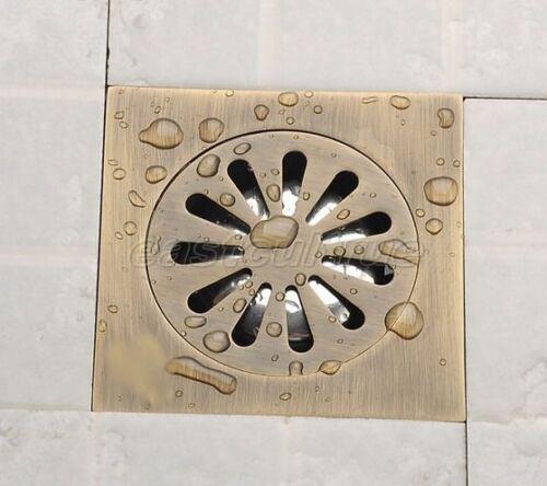 Antique Brass Square Shower Drain Floor Waste Drain Cover Strainer Ehr002
