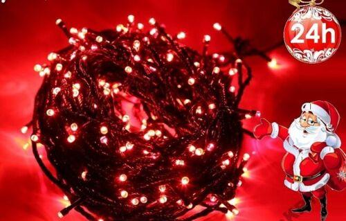 300 Led Rot Lichterkette Weihnachten Tannenbaum Party Innen//Außen 8 Programme