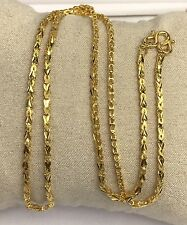 24k Solid Gold Diamond Cut Chain/ Necklace. 18 Inches. 9.48 Grams