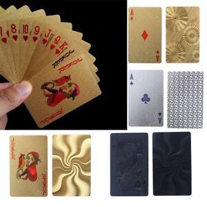 Film-de-poker-en-plastique-d-039-or-de-tisonnier-de-jeu-de-cartes-jouant