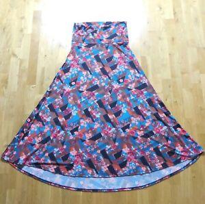 7f646abce5c Lularoe Maxi Skirt Full Length Maxi Women s Large Green Red Black ...