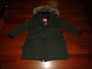 CANADA-WEATHER-GEAR-SUPER-TRIPLE-GOOSE-MEN-COAT-SIZE-3XL-DARK-GREEN-FUR-HOOD