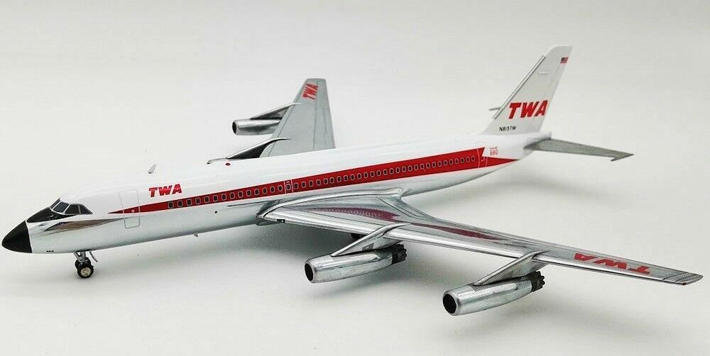 INFLIGHT 200 200 IF880TW0119P 1 200 TWA CONVAIR CV-880 N815TW POLISHED WITH STAND