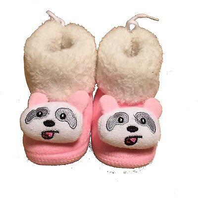 Botines Cuna Zapatos de Bebé Rosa Bebé Rosa Corazón blanda cálida Baby Shower Giftt