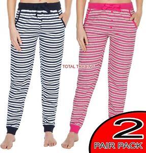Ladies-Womens-Loungewear-Lounge-Pants-Pyjama-Bottoms-Pjs-Nightwear-2-PACK