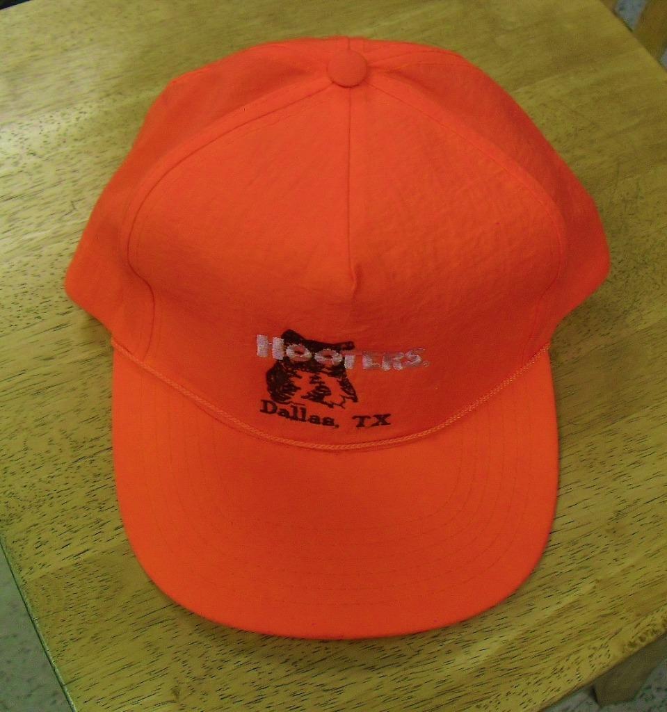 Hooters hat orange Dallas Texas vintage SNAPBACK hat RAREbright orange hat 4cf977