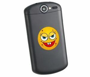 Smilie-Emoji-bunter-Handy-Aufkleber-denkt-widerlich-Gesicht-lustig-Sticker-Lapto