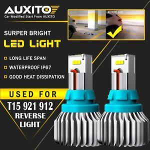 AUXITO T15 921 912 LED Reverse Backup Light 4000LM White for Toyota Honda CSP EA