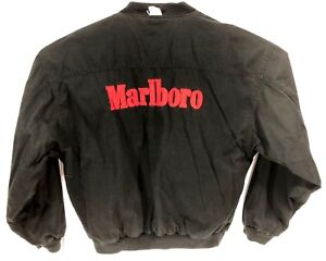 75332c5f3 Details about Men's Vintage 90s Marlboro Jacket Size L Reversible Black Red  Logo SpellOut