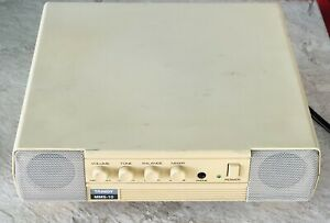 VINTAGE TANDY MMS-10 Stereo Computer Speaker System/Amp POWERS ON