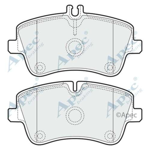 Fits Mercedes CLK C209 270 CDI Genuine OE Quality Apec Front Disc Brake Pads Set
