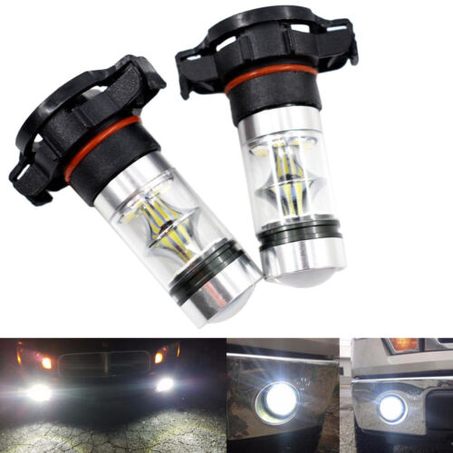 2pcs Car Auto LED Fog Light Bulb H16 5202 PS24WFF 100W CREE 6000K Super White