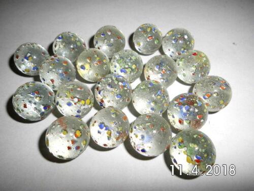 172400 20 Murmeln Wega 17mm aus Glas Glaskugel Glasmurmel