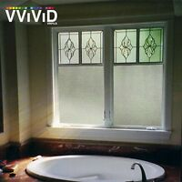 36 X 60 Vvivid Cross Hatch Frosted Privacy Window Vinyl Film Home Decor Glass
