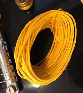 gavitt vintage style tinned cloth push back guitar wire 22 awg yellow 50 feet ebay. Black Bedroom Furniture Sets. Home Design Ideas