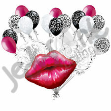19 pc Big Kiss Lips Balloon Bouquet Decor Wedding Bridal Shower Party Love You