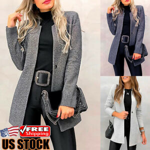 Women-Casual-Slim-Blazer-Suit-Coat-Jacket-Ladies-Long-Sleeve-Cardigan-Outwear
