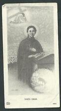 Estampa antigua de Santa Gema Galgani andachtsbild santino holy card santini