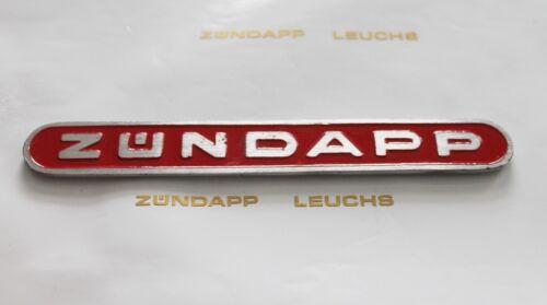 1 zündapp revêtement latéral emblème rouge fonderie 16 x 126mm r /& rs 50 roller moulures