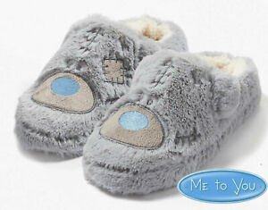 LADIES-FLUFFY-ME-TO-YOU-TATTY-TEDDY-SLIPPERS-NOVELTY-XMAS-GIFT-WARM-MULES-UK-3-8