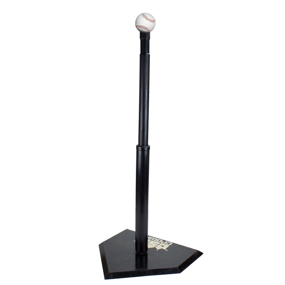 Adjustable Height Youth Baseball T-Ball Batting Tee Heavy Duty Flexible Rubber