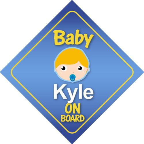 Elección De Pelo Colores * Baby Kyle a bordo de signo