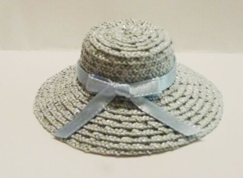 Simply Stylish pale blue straw hat for FR Barbie