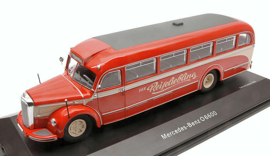 Mercedes O6600 Bus 'DER REISELIEBLING' rosso / Cream 1:43 Model 2749 SCHUCO