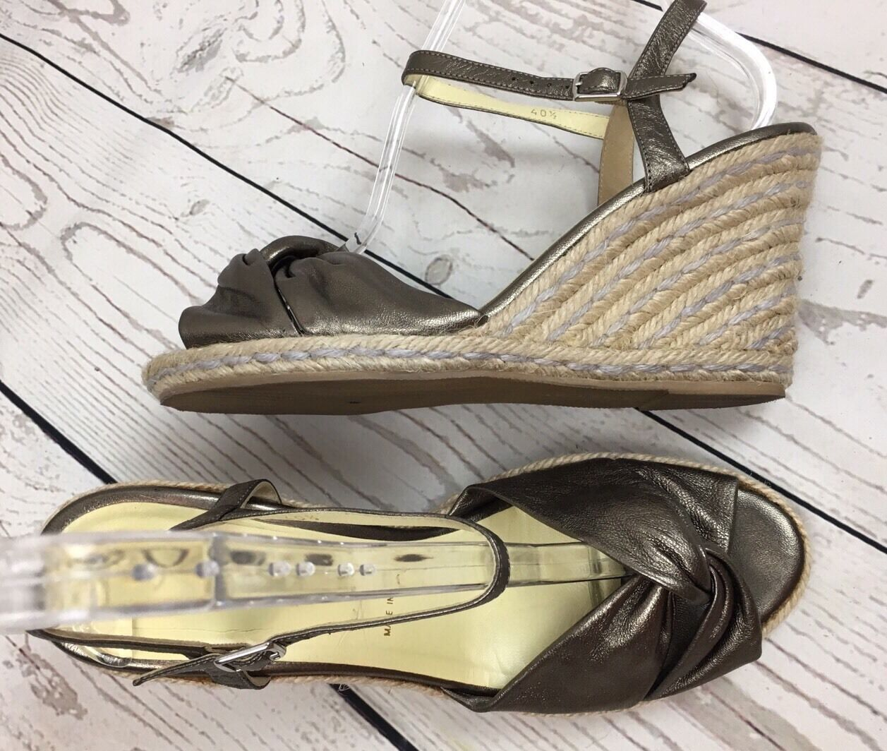 Bruno Bronze Magli Espadrilles Wedge Sandals Bronze Bruno Metallic Sz US 9 307efe