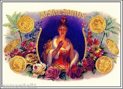 Toto Beautiful Woman Butterfly Vintage Smoke Cigar Box Crate Label Poster Print