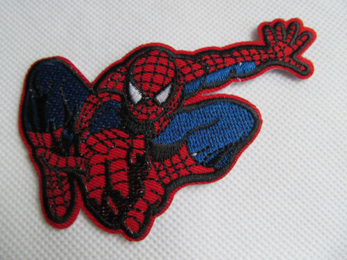 FASHION EMBROIDERY T-SHIRT MARVEL SPIDERMAN JUMPING IRON SEW ON PATCH UK SELLER