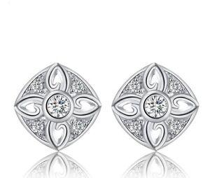 Edle-Zirkonia-Ohrstecker-925-Silber-Ohrschmuck-American-Diamant-Top-Edel