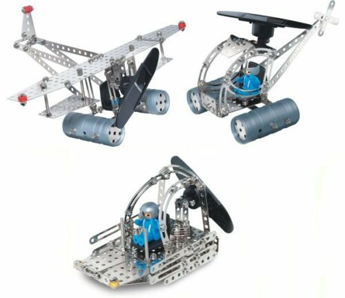 Solar Powered Construction Set Eitech C74 Metal Building Toy aircraft//helicopter