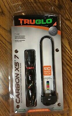 "New TruGlo Carbon XS Stabilizer 7/"" w// Wrist Sling Black Model# TG845B"
