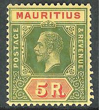 Mauritius 1913 green/red on orange-buff 5r Die I mint SG203