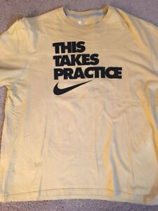 alcool estratto Giorno dei bambini  NFL Team Apparel Nike Mens Yellow 2XL This Takes Practice T-Shirt 2XL | eBay