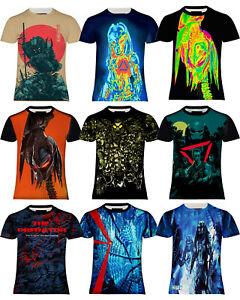 Alien vs Predator Human Body Embryo X-Ray Black Cotton T-Shirt Tee Top
