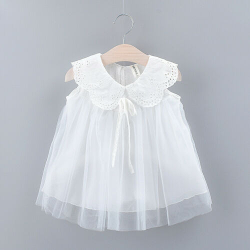 Summer Toddler Kids Baby Girls Floral Lace Tulle Party Princess Dress Clothes