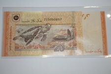 (PL) NEW: RM 20 ZC 0000857 UNC 4 ZERO LOW NICE FANCY NUMBER REPLACEMENT NOTE