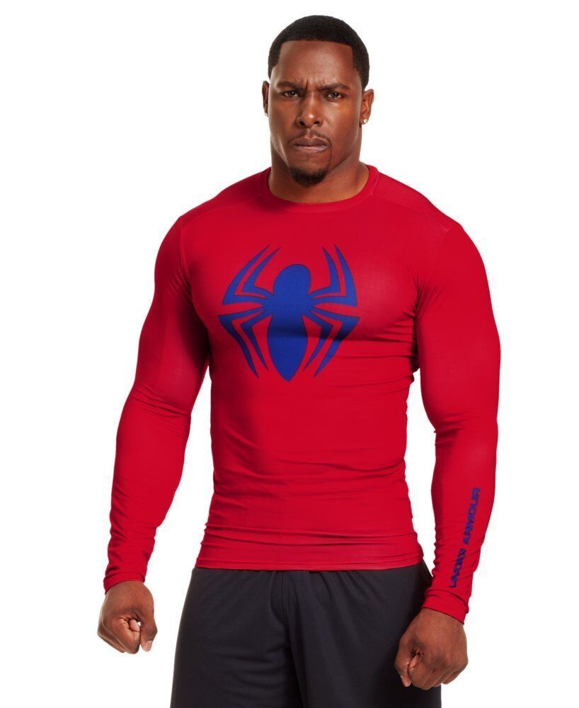 Under Armour  Herren Spiderman Alter Ego Long Sleeve Compression Shirt ROT / Royal