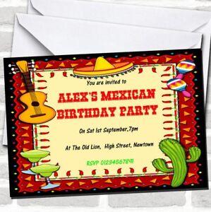 mexican fiesta theme birthday party invitations ebay