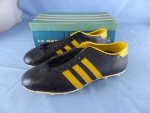Détails sur ADIDAS BRAZIL anciennes chaussures de football VINTAGE années 70 !!! NEUVES T 42