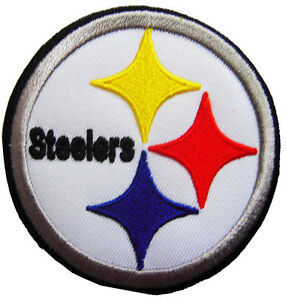 new nfl pittsburgh steelers logo football embroidered iron on patch rh ebay com images of steelers logo pictures of pittsburgh steelers logo