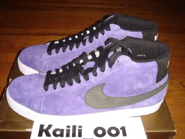 Nike Blazer Premium SB Size 12 Purple 314070-501 Trickstar Supreme B