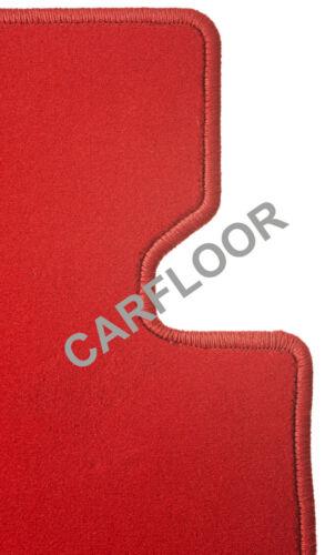 Für Volvo C70 Cabrio Bj ab 01.06 Fußmatten Velours Deluxe rot m Befestigungen