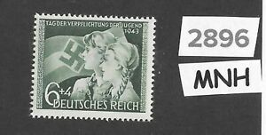 2896-MNH-stamp-1943-Hitler-Youth-Oath-to-Adolph-Hitler-amp-Third-Reich-WWII