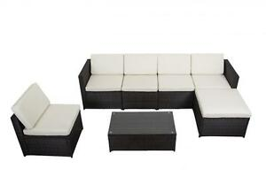 Image Is Loading 7 PCS Outdoor Patio Sofa Set Sectional Furniture