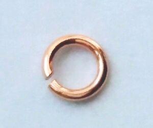 10x  9ct Yellow Gold 6mm Diameter Open Jump Rings Jewellery Making
