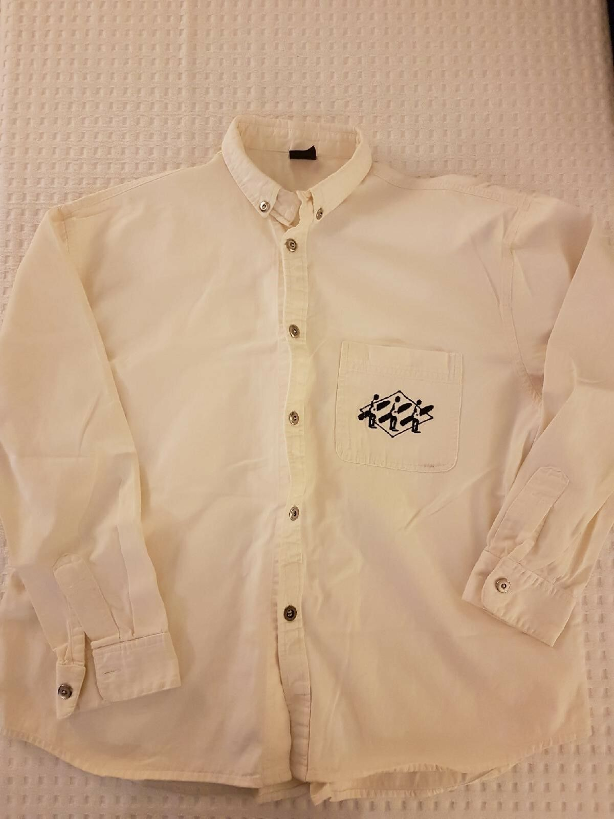 WEST BEACH Off-White   Cream  Oxford Shirt   LARGE   Cotton   RARE  fast shipping and best service