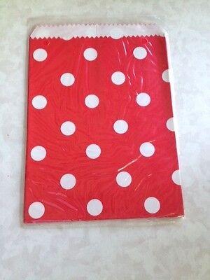 20 Polka Dot Paper Bags Red W White 7 X 5 Free Ship Ebay